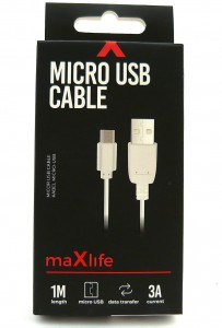 Kabel microUsb Maxlife 1 metr 3A fast charge