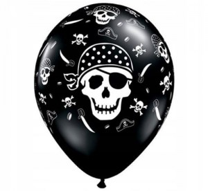 Balon balony czaszka pirata Qualatex 11