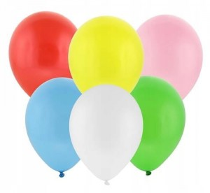 Balon balony pastelowe mix 12""